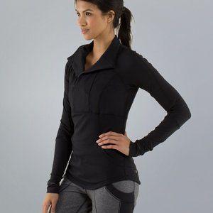 Lululemon Base Runner 1/2 Zip Black Size 10